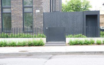 Plieno lakštų tvora